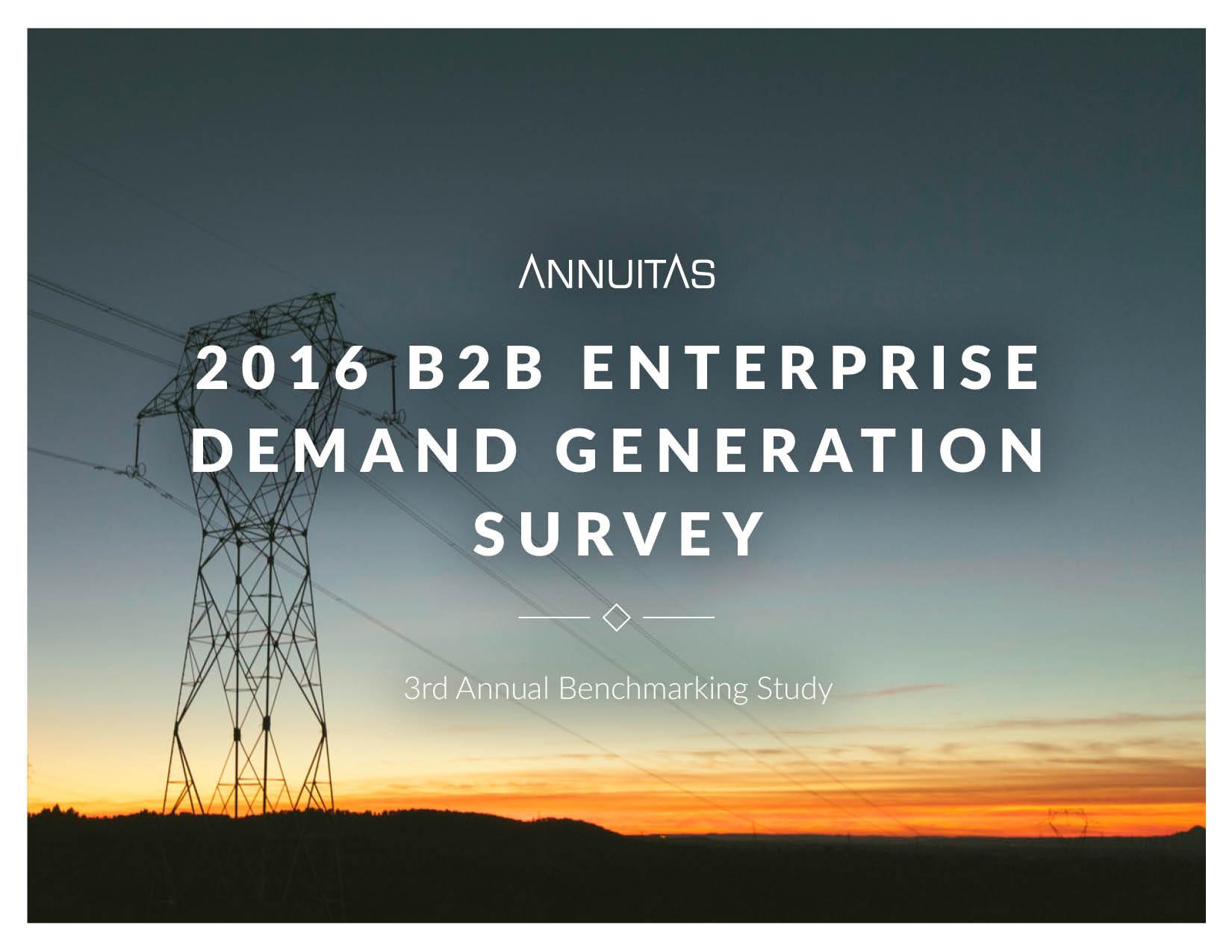 2016 Enterprise B2B Demand Generation Study Cover