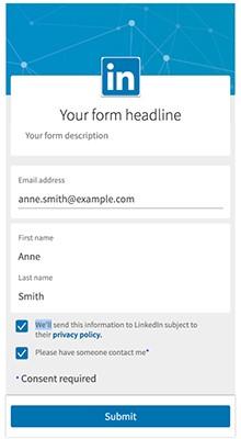 LinkedIn Form